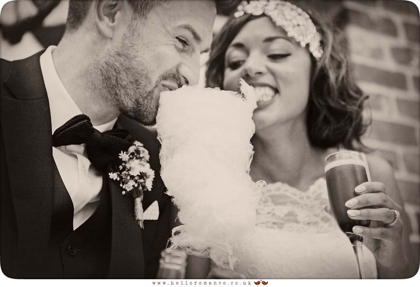 Candyfloss wedding photo