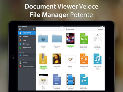 Documents 5 - Un visualizzatore di PDF fulmineo,un riproduttore multimediale ed un manager per i tuoi downloads
