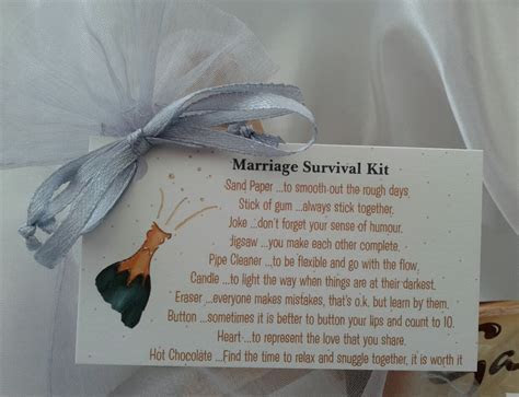 Little BAG of BITS: Marriage Survival Kit bride by