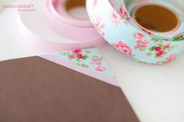 Cuaderno forrado con tela adhesiva