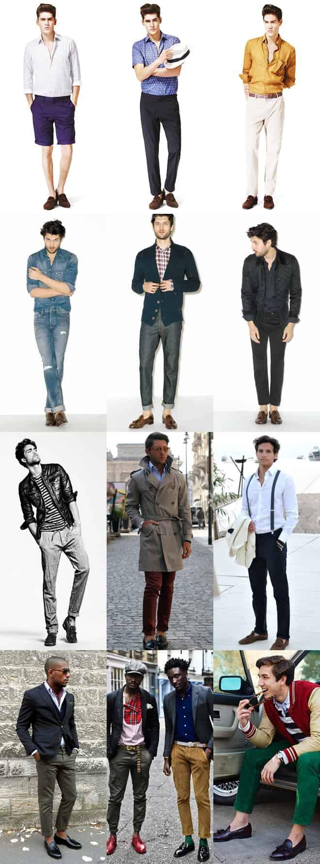 Men's Casual Tassel Loafers Lookbook