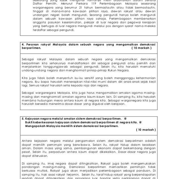 Contoh Soalan Kertas 3 Sejarah Tingkatan 4 Bab 5 Hijrah P Soalan