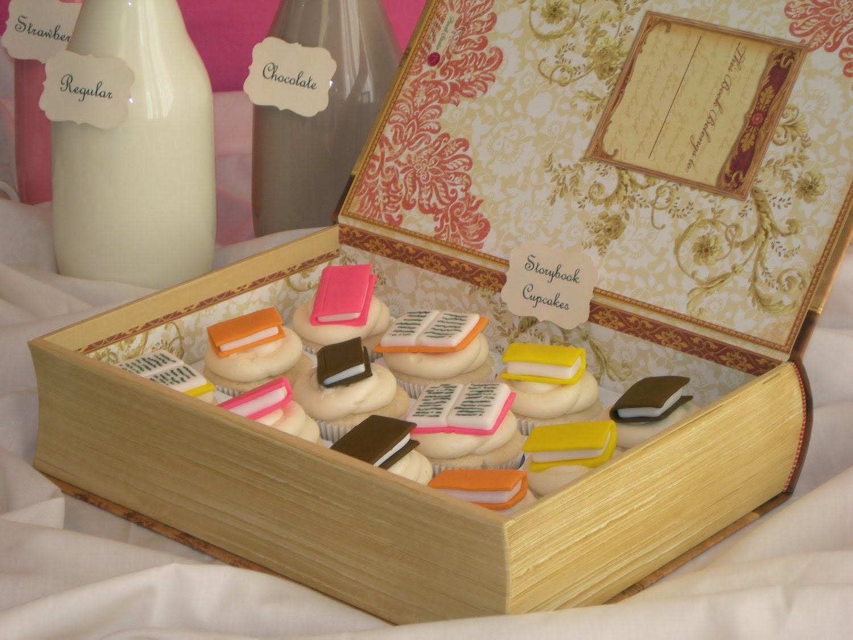 Mini Storybook Cupcake Toppers - 1 Dozen (edible)
