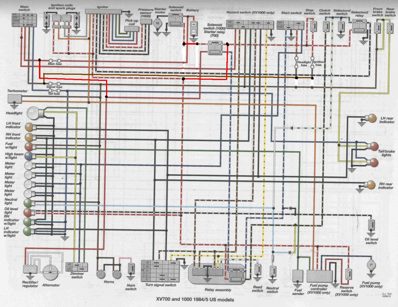 1986 yamaha virago 700 wiring diagram schematic  artedaprincesona.blogspot.com