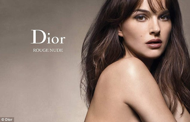 Radiant: The Oscar-winning actress wears the brand's new 'nude' range which promises a more natural look