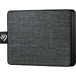 Seagate - One Touch SSD 1TB External USB 3.0 Portable Solid State Drive - Black