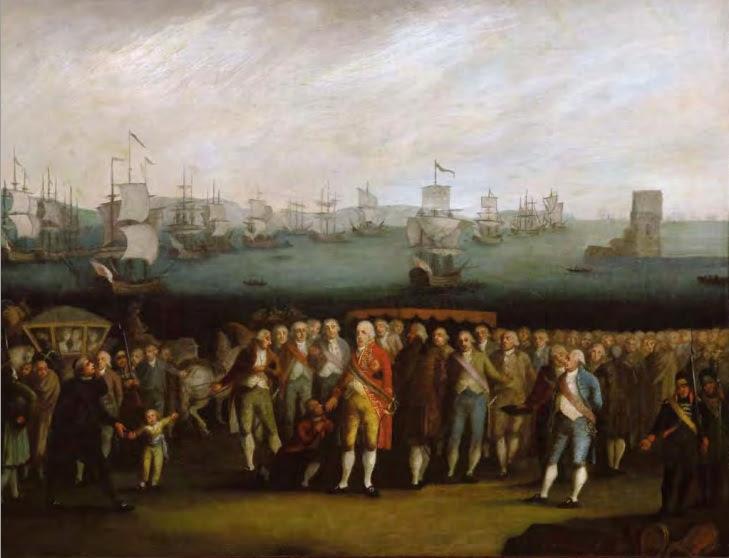 Ficheiro:Autor não identificado - Embarque da Família Real Portuguesa.jpg