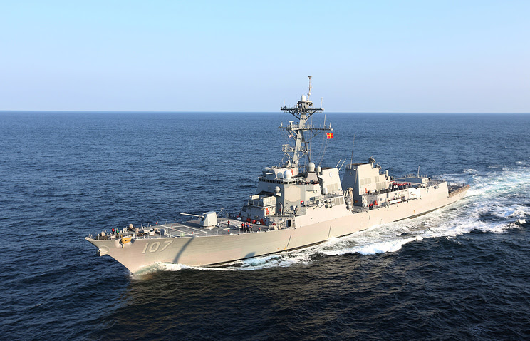 Image result for Houthi rebels fire 2 missiles at US Navy destroyer in Red Sea