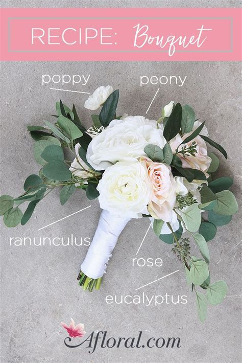 Create your own wedding bouquets with artificial flowers