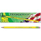 Ticonderoga Woodcase Pencil, 2H #4, Yellow, Dozen