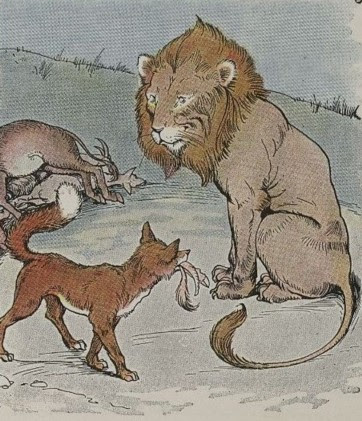 THE LION, THE ASS, AND THE FOX