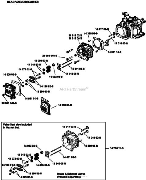 kohler xt  toro parts diagram  headvalvebreather