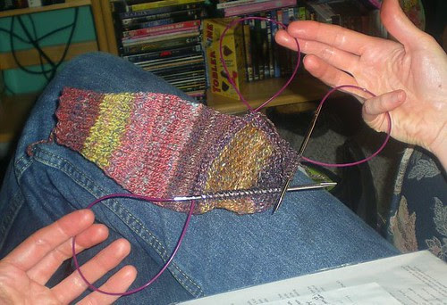 Triple-loop knitting