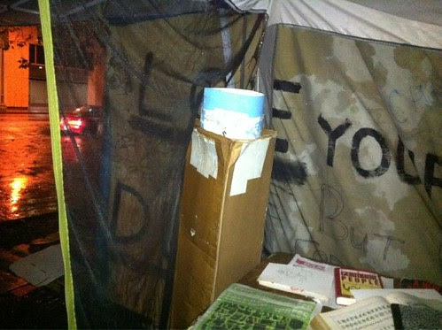 found cardboard in art tent, oakland by jim leftwich