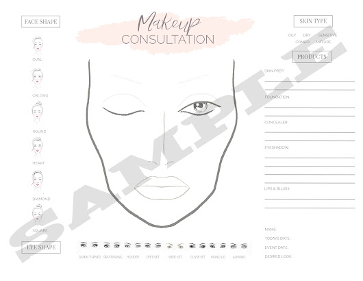 Professional Face Chart