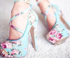 """flowery"" blue and pink shoes :)"