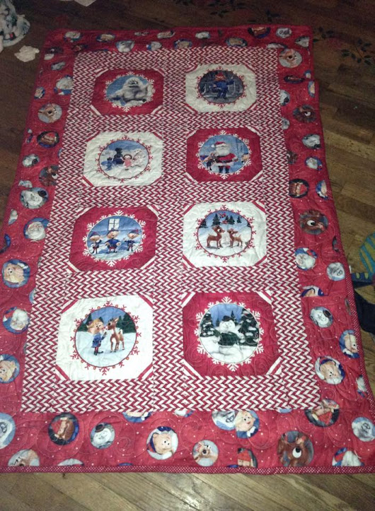 The Rudolph Christmas Quilt | quilterinme