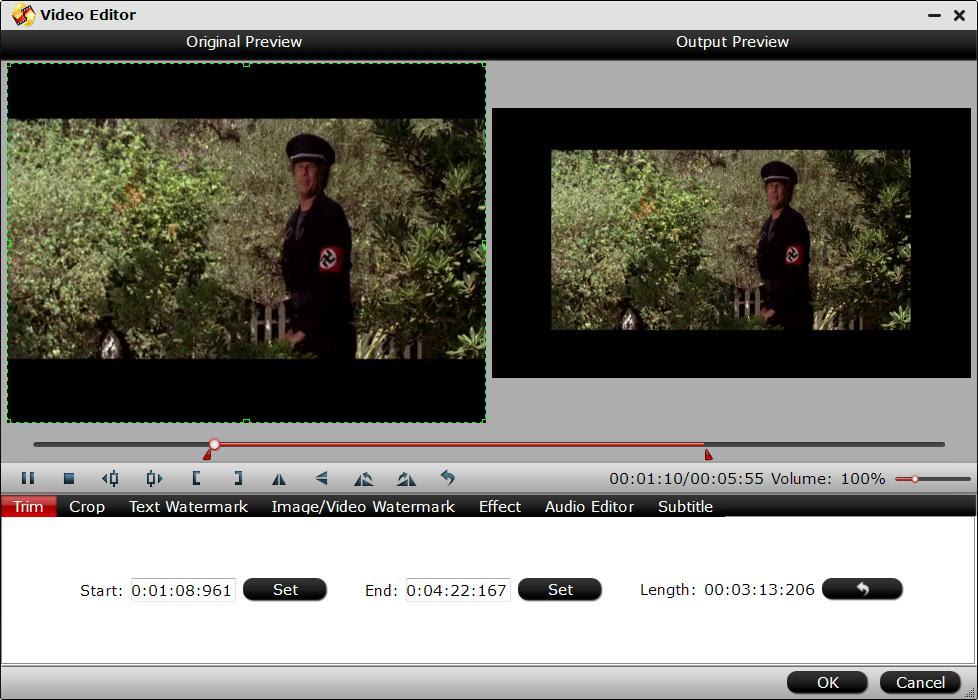 Trim MKV video length