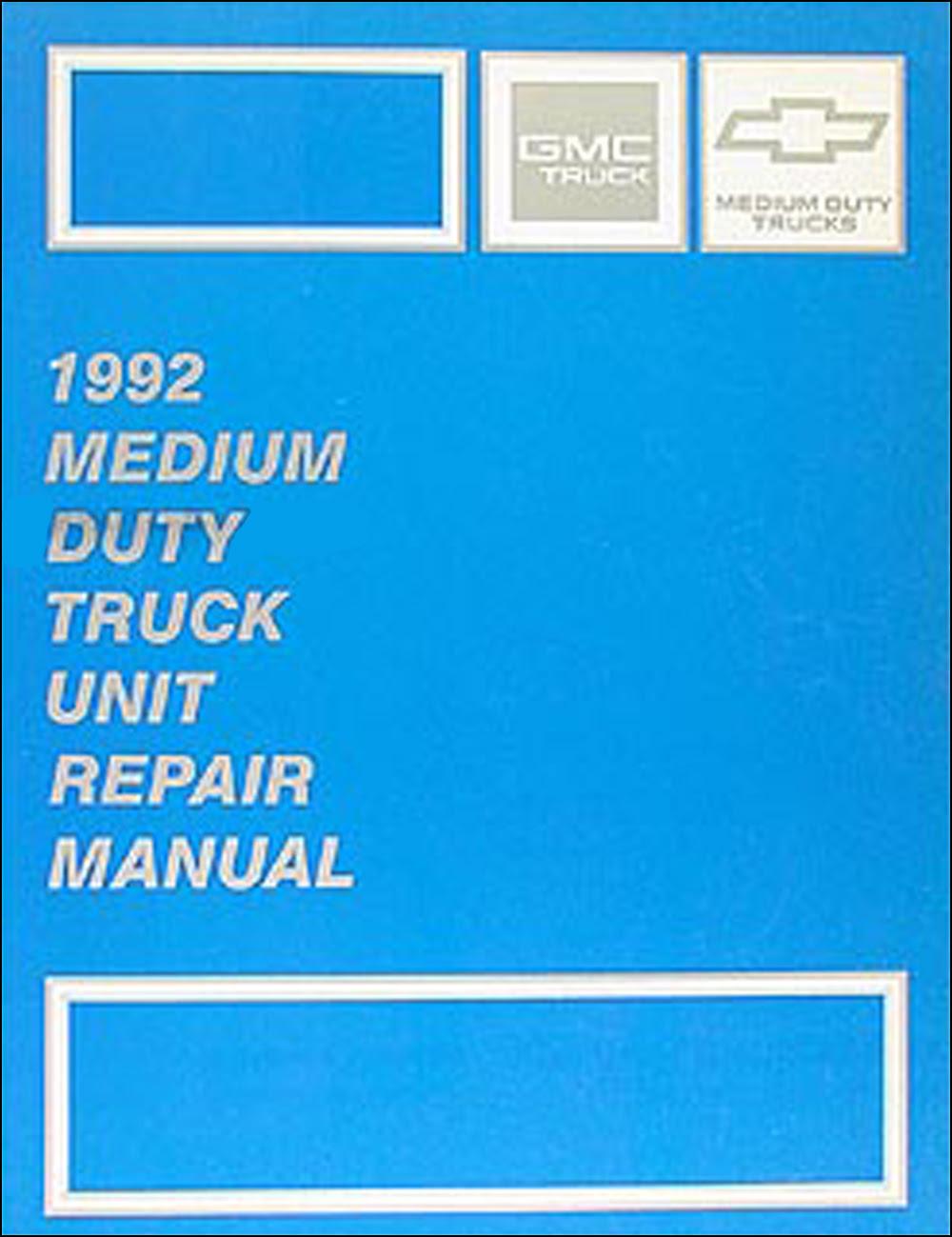 1992 Chevy Kodiak Gmc Topkick And P6 Wiring Diagram Manual Original