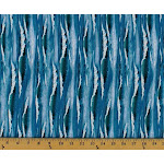 Landscape Medley Ocean Waves Water Blue Cotton Fabric