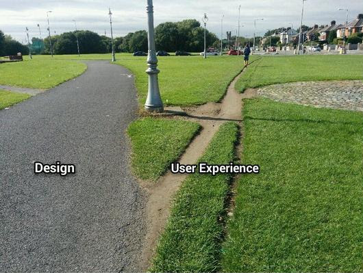 "Usabilla on Twitter: ""Design vs User Experience [via @benkimediyorum] #ux #webdesign """