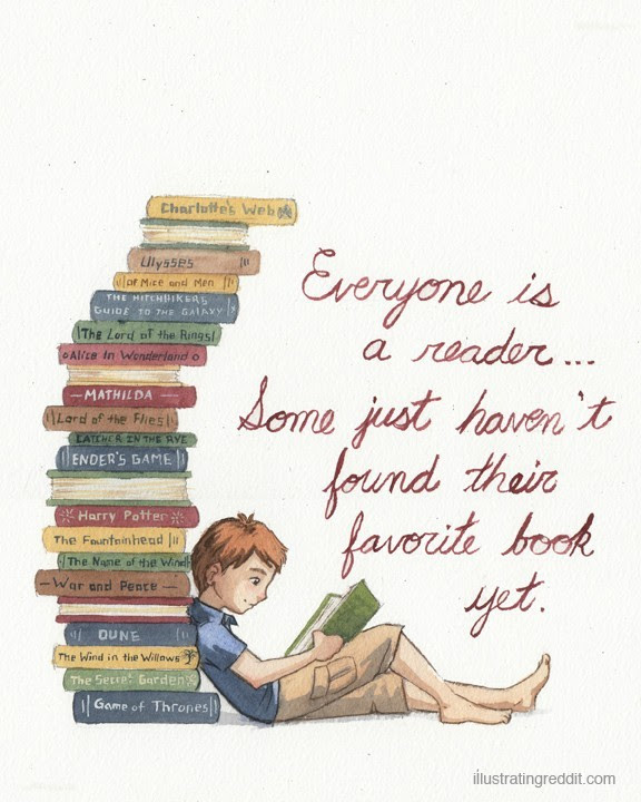 illustratingreddit:  Everyone is a Reader.  totally agree!!