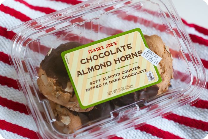 trader joe's chocolate almond horns review