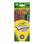 Crayola Twistables Colored Pencils, Assorted Colors, 18 Ea