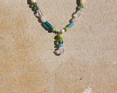 Margarita in greens and blues necklace