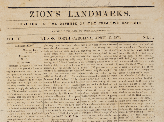 Issues of Zion's Landmarks newspaper from Wilson, NC, are now available