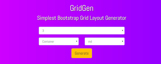 GridGen- A Useful Tool to Generate Bootstrap Grid Layout