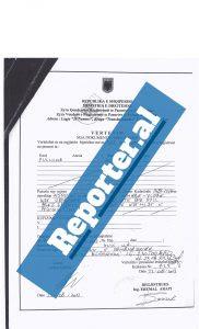 Certifikata e Pronësisë në emër të Pullumb Petritaj në vitin 2013