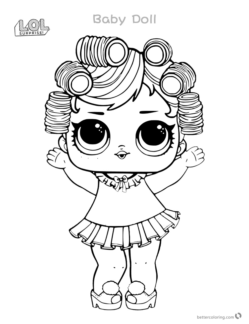 V.R.Q.T. Coloring Page Lotta LOL | Disney coloring pages, Lol ... | 1300x1000