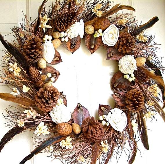 Vanilla and Chocolate Wreath