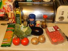 Spaghetti dish - most ingredients