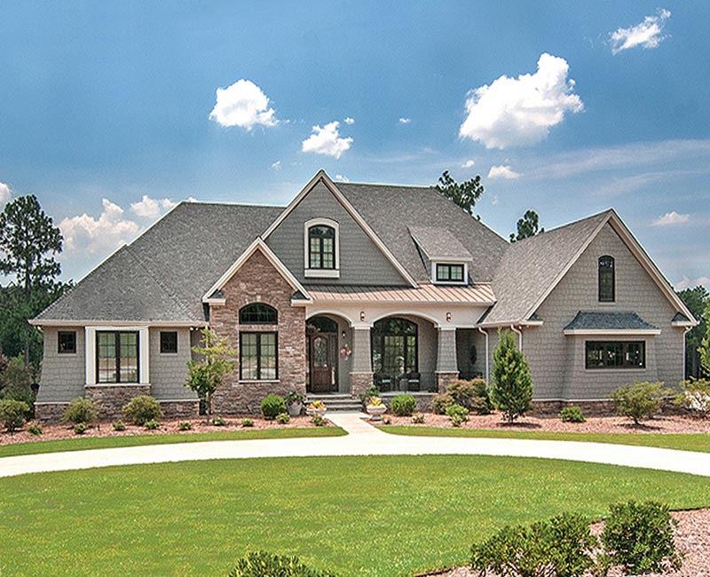 Beautiful French Country Estate Custom Home with 3,881