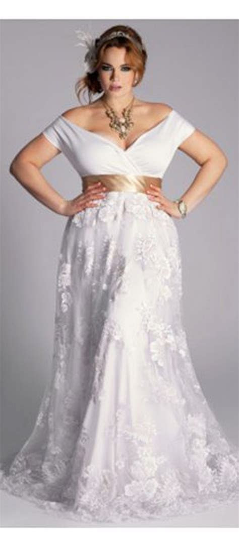plus size wedding dress for older brides   * WEDDING