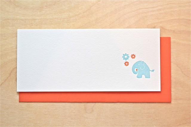 Letterpress Elephant Stationery