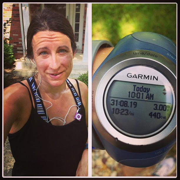 Morning #run. The awesome thing about sleeping in is that the heat and humidity are way worse when you DO get up. #halfmarathontraining #running