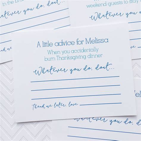 Marriage Advice Cards, Words of Wisdom, Bridal Shower