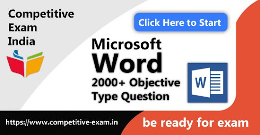 Microsoft Word Objective Type Questions | PDF Download | 2018| Page 1 — Competitive Exam India