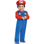 Disguise Super Mario Bros Toddler Costume, Blue/Red