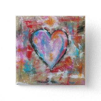 Reckless Heart Original Painting Pins