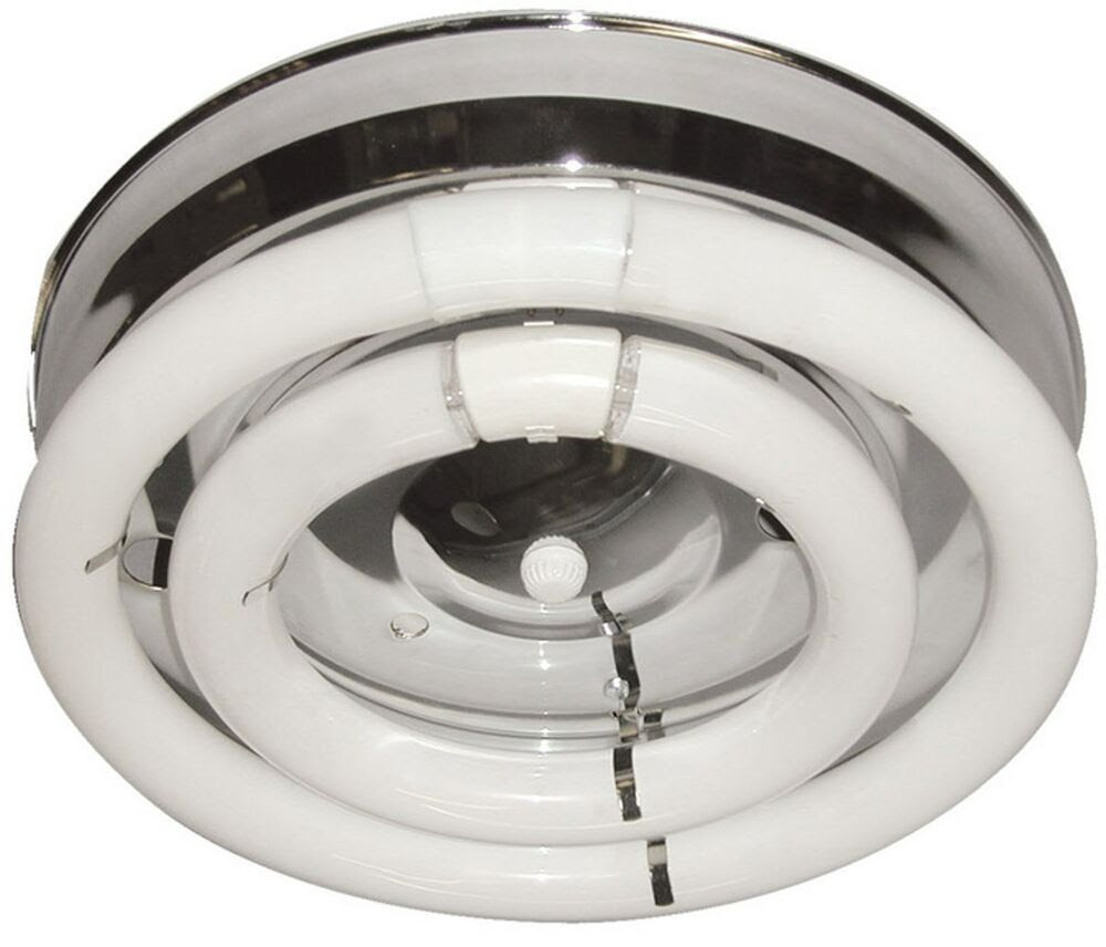 2 Fluorescent Circline Open Bulb Chrome Ceiling Hallway Kitchen Light Fixtures  eBay