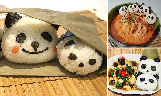 Animal-loving foodies create delicious meals shaped like pandas