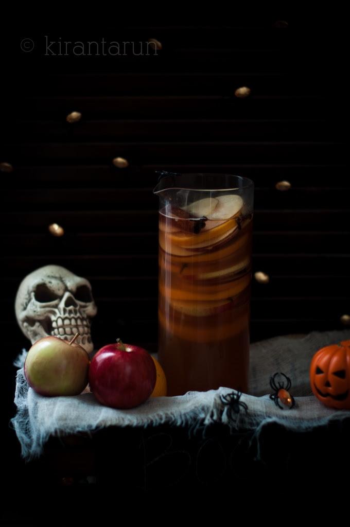 Apple Bourbon & Pumpkin Sangria | KiranTarun.com