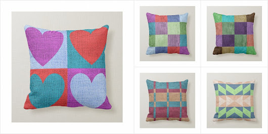 Burlap Look Pillow Collection