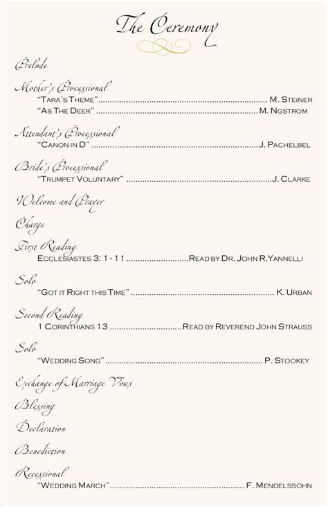 Beach Wedding Programs Tropical Wedding Directories Order