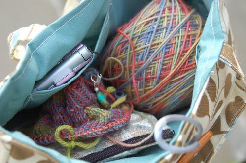 Inside of Amy Butler bag