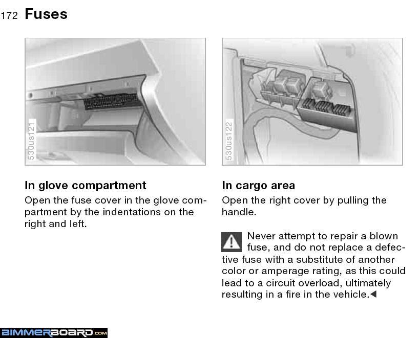 2008 Bmw X5 30 Fuse Box Diagram
